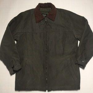 Bass Men's Olive green corduroy padded warm coat